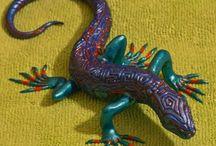 Ящерицы... рукотворные / Ящерицы из полимерной глины