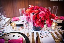 celebrate / awesome party decorations and flowers.