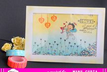 PABD Stamping Inspiration / This board showcases how Peek-a-boo Designs stamps can be used in Various ways