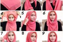 tutorial hijab segi4