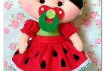 bonecas de feltro