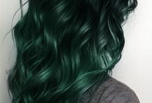 [colorful hair] Green