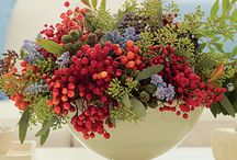 Floral arrangements   ( fall and winter  )
