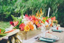 tropical chic wedding decoration