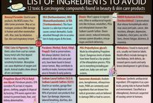 Harmful chemicals to AVOID