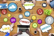 Social Media Graphics / Interesting graphics and icons about social media