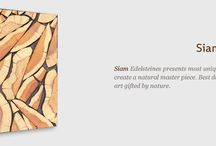 Gemss Siam / Siam Edelsteines presents most unique woods that come together to create  a natural master piece. Best described as  a wonderful piece of art gifted by nature.