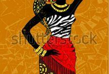 Afrikalı kadın figürleri