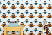 Owl wall paper