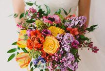 Colourful wedding flowers