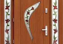 Drzwi zewnętrzne z dostawkami