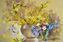 Цветы, рисунок