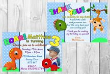 Dinosaur Party invitations and Thank You cards / Dinosaur Party invitations and Thank You cards