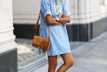 inspo: denim dresses