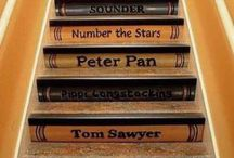 Decorating with Books / This shows we're overboard for books. We like them in the house, in the garden, on the stairs.