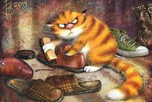 коты для декупажа картинки