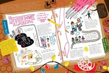 """XPLANE + PNCA / Fall 2016, our design team partnered with illustration students at Pacific Northwest College of Art (PNCA) to bring their talents to two topics we were excited about: the pop culture phenomenon Stranger Things and the National Parks Centennial celebration. Our challenge to the students was to work like an XPLANEr, using our frameworks to illustrate one of these topics in an 11x17"""" map.  Learn more: http://xblog.xplane.com/exploring-new-worlds-with-pnca"""