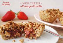 Especial Dia da Mãe: Mini Tartes de Morango e Crumble / Para um doce Dia da Mãe... Estas Mini Tartes são vegan, sem glúten, sem açúcar refinado, sem lácteos, sem soja e há uma opção sem frutos secos.