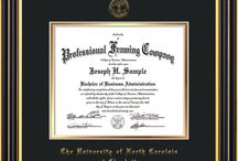 UNCC - University of North Carolina Charlotte Diploma Frames and Graduation Gifts / Official UNCC Diploma frames. Exquisitely crafted to exacting specifications for the UNCC diploma. Custom framed using hardwood mouldings and all archival materials, including UV glass to prevent fading from sunlight AND indoor incandescent lighting! Each frame exceeds Library of Congress standards for document preservation and includes a 100% lifetime guarantee, ensuring that a hard-earned achievement will be honored and protected for generations. Makes a thoughtful and unique graduation gift!