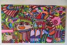 """""""Später im August"""" / Acryl auf Leinwand, 60 cm x 100 cm, von Mimi von Minz"""