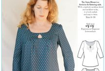 Blouses, tops, shirts and vests. / Inspiration for tops, shirts and blouses to sew.