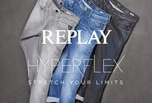 """Replay Hyperflex / Volle Bewegungsfreiheit und authentischer Look: REPLAY Hyperflex nutzt eine innovative Technologie für Herrenjeans, bei der Lycra, Polyester und Baumwolle als Fasern miteinander verbunden werden. Dadurch bleiben die Jeans in Form und fühlen sich bequem an. Das beliebte Modell """"Hyperflex Anbass"""" ist aus strapazierfähigem 11.5oz Stretch-Demin gefertigt. ► http://bit.ly/KONEN-Replay-Hyperflex"""