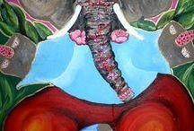 Kunstwerk van mijn dochter Chantal de Lede