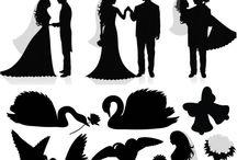 свадебный вектор