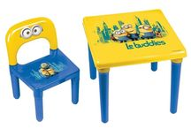 Minions Kids Set Table and Chair Garden Children Patio Disney Themed Furniture
