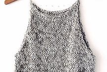 knitting: top e canotte