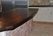 Mahogany Countertops / Our handmade mahogany countertops are a wonderful addition to any space.