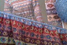 Kaffe Fassett knitting