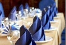 Pretty Napkins / Using cloth napkins folded in many ways for a festive table.