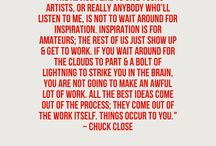 Words for Artists / Inspiration and Wise Words for artists and creative folks
