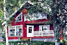Проекты недорогих деревянных домов / Проекты недорогих деревянных домов из нестроганного бруса - это оптимальный вариант для строительства дешевых дачных домов.