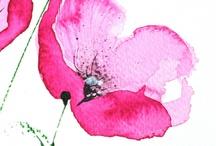 Květ akvarel