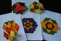 Hexies and English paper piecing