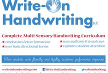 Complete, Multi-Sensory Handwriting Curriculum / Unleash the writer in every child with Write-On Handwriting!