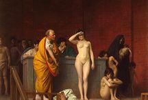 Живопись / Jean-Léon Gérôme - Vente d'esclaves à Rom