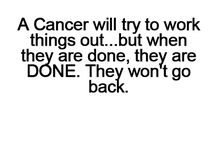 Cancer zodiac signs