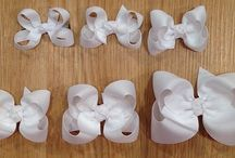 Grosgrain Hairbows / Hairbows made out of grosgrain ribbons