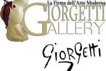 GIORGETTI GALLERY / Capolavori dell'astrattista Alessandro Giorgetti collocati in ambientazioni fatate di design puro