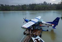 The Cinnamon Air Sea Plane / Embark on our adventures, here at Mahaweli Reach. The Cinnamon Air Sea Plane docked at the hotel, is just one option to begin with.