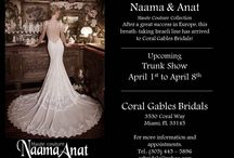 Naama & Anat / exclusive Haute Couture Collection Naama & Anat.  After their huge success is Europe Naama & Anat, a mother-daughter duo, arrives to Coral Gables Bridals. This beautiful collection features sleek and spectacular silhouettes with incredible back designs in exquisite lace and elaborated beading.