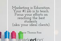 markEDing (Marketing + Education!) / I am on a mission to retrain brains so marketing is done the right way - with an educational approach! / by Lorrie Thomas Ross