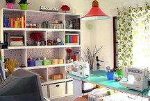 Organização,Escritórios,ateliê e cozinha