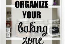 baking zone organization / by Deon C