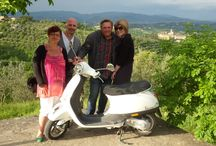 Vespa Tours / 1 day Chianti countryside excursion. Drive along scenic and silent country roads through the hillside of Tuscany on a Vespa scooter admiring the sights, smells and sounds of the Chianti region!