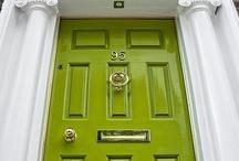 Green entrance Doors