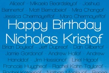 Kristofize: Happy Birthday, Nicholas! / It's Nicholas Kristof's birthday April 27. Sree Sreenivasan, Columbia Journalism School professor, is spearheading the Kristofize movement to get people to change their Twitter names, follow Half the Sky accounts, and donate to certain charities in his honor. Learn more: http://bit.ly/kristofize. / by Half the Sky Movement